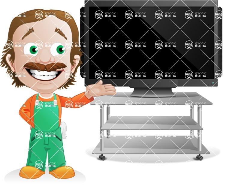 Builder Man Cartoon Vector Character AKA Marcelino Toolbox - Presentation2