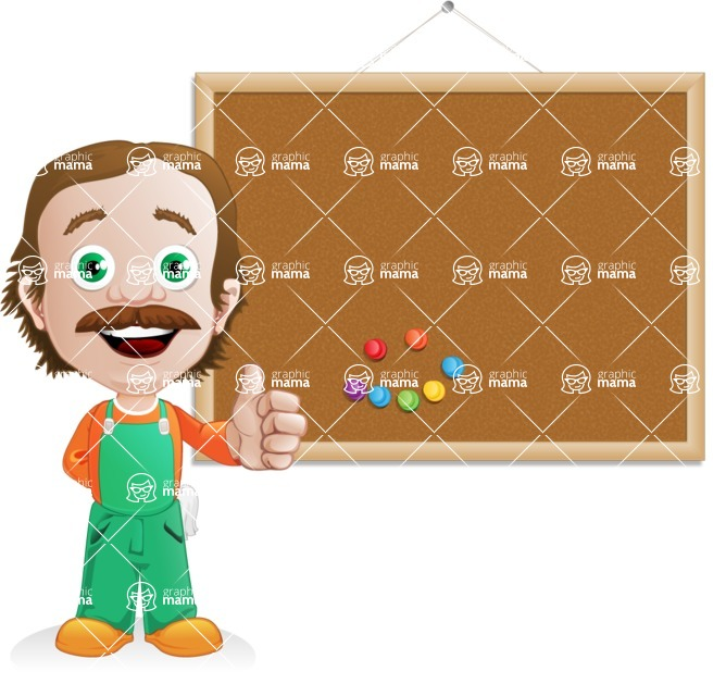 Builder Man Cartoon Vector Character AKA Marcelino Toolbox - Presentation3