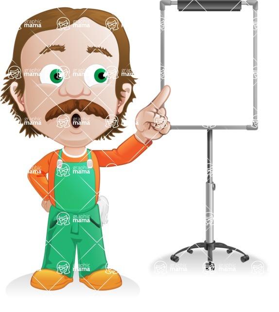 Builder Man Cartoon Vector Character AKA Marcelino Toolbox - Presentation4