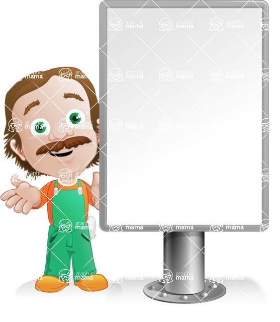 Builder Man Cartoon Vector Character AKA Marcelino Toolbox - Presentation5