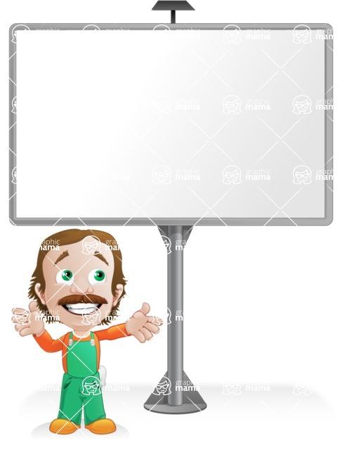 Builder Man Cartoon Vector Character AKA Marcelino Toolbox - Presentation6