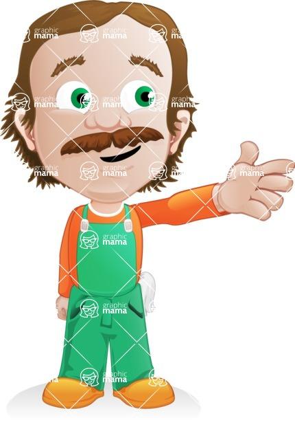 Builder Man Cartoon Vector Character AKA Marcelino Toolbox - Showcase 2