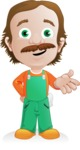 Builder Man Cartoon Vector Character AKA Marcelino Toolbox - Show 1