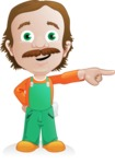Builder Man Cartoon Vector Character AKA Marcelino Toolbox - Point 1