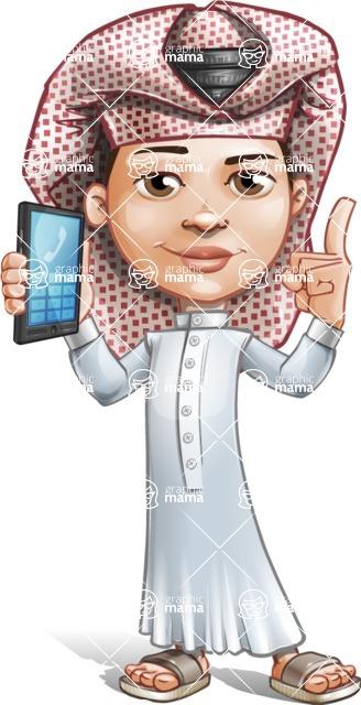 Little Muslim Boy Cartoon Vector Character AKA Nabil - Support