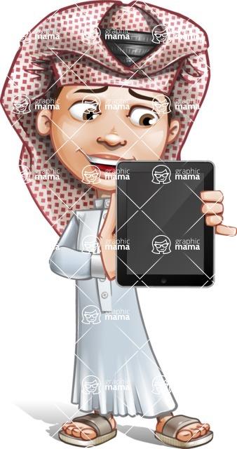 Little Muslim Boy Cartoon Vector Character AKA Nabil - iPad 1