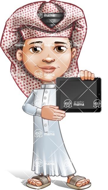 Little Muslim Boy Cartoon Vector Character AKA Nabil - iPad 2