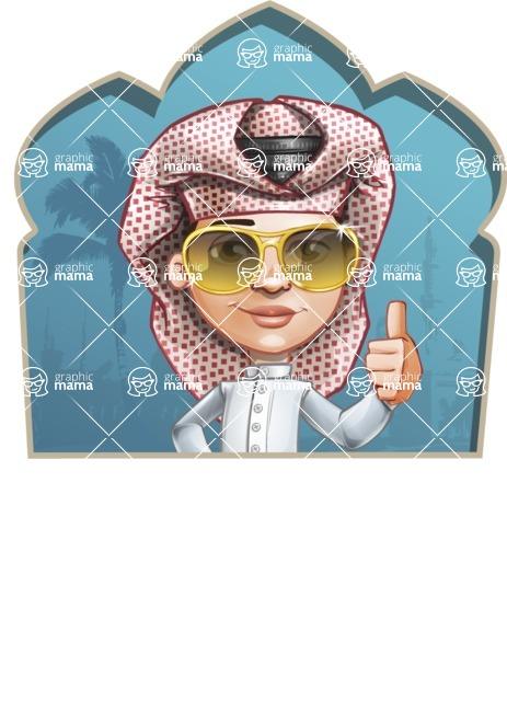 Little Muslim Boy Cartoon Vector Character AKA Nabil - Shape 2