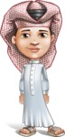 Little Muslim Boy Cartoon Vector Character AKA Nabil - Normal