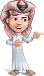 Little Muslim Boy Cartoon Vector Character AKA Nabil - Point 2