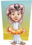 Little Muslim Boy Cartoon Vector Character AKA Nabil - Shape 10
