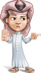 Little Muslim Boy Cartoon Vector Character AKA Nabil - Direct Attention 2