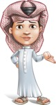 Little Muslim Boy Cartoon Vector Character AKA Nabil - Sorry