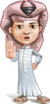 Little Muslim Boy Cartoon Vector Character AKA Nabil - Stop 2