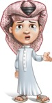 Little Muslim Boy Cartoon Vector Character AKA Nabil - Sad 2