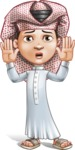 Little Muslim Boy Cartoon Vector Character AKA Nabil - Shocked