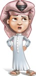 Little Muslim Boy Cartoon Vector Character AKA Nabil - Roll Eyes