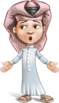 Little Muslim Boy Cartoon Vector Character AKA Nabil - Lost