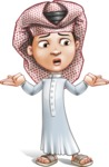 Little Muslim Boy Cartoon Vector Character AKA Nabil - Lost 2