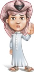 Little Muslim Boy Cartoon Vector Character AKA Nabil - Good Bye