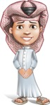 Little Muslim Boy Cartoon Vector Character AKA Nabil - Patient