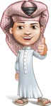Little Muslim Boy Cartoon Vector Character AKA Nabil - Thumbs Up