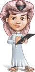 Little Muslim Boy Cartoon Vector Character AKA Nabil - Note