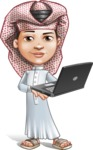 Little Muslim Boy Cartoon Vector Character AKA Nabil - Laptop 3