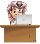 Little Muslim Boy Cartoon Vector Character AKA Nabil - Laptop 4