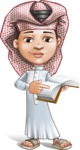Little Muslim Boy Cartoon Vector Character AKA Nabil - Book 1