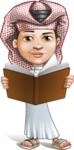 Little Muslim Boy Cartoon Vector Character AKA Nabil - Book 2