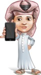 Little Muslim Boy Cartoon Vector Character AKA Nabil - iPhone