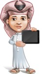 Little Muslim Boy Cartoon Vector Character AKA Nabil - iPad 2