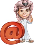 Little Muslim Boy Cartoon Vector Character AKA Nabil - Web