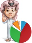 Little Muslim Boy Cartoon Vector Character AKA Nabil - Chart