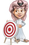 Little Muslim Boy Cartoon Vector Character AKA Nabil - Target