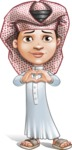 Little Muslim Boy Cartoon Vector Character AKA Nabil - Show Love