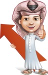Little Muslim Boy Cartoon Vector Character AKA Nabil - Arrow 1