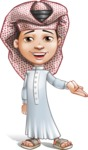 Little Muslim Boy Cartoon Vector Character AKA Nabil - Showcase