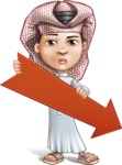 Little Muslim Boy Cartoon Vector Character AKA Nabil - Arrow 3