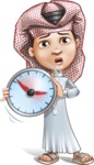 Little Muslim Boy Cartoon Vector Character AKA Nabil - No Time