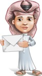 Little Muslim Boy Cartoon Vector Character AKA Nabil - Letter