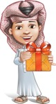 Little Muslim Boy Cartoon Vector Character AKA Nabil - Gift