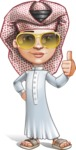 Little Muslim Boy Cartoon Vector Character AKA Nabil - Sunglasses