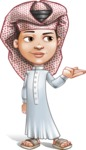 Little Muslim Boy Cartoon Vector Character AKA Nabil - Showcase 2