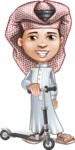 Little Muslim Boy Cartoon Vector Character AKA Nabil - Trike