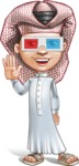 Little Muslim Boy Cartoon Vector Character AKA Nabil - 3D