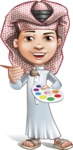 Little Muslim Boy Cartoon Vector Character AKA Nabil - Paint