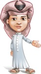 Little Muslim Boy Cartoon Vector Character AKA Nabil - Show