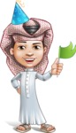 Little Muslim Boy Cartoon Vector Character AKA Nabil - Party 1